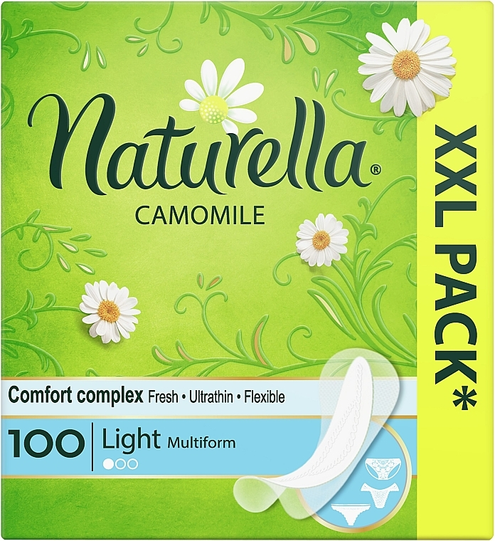 Ежедневные гигиенические прокладки, 100шт - Naturella Camomile Light
