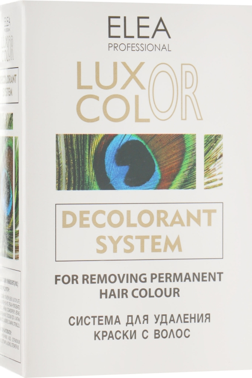 Система для устранения краски с волос - Elea Professional Luxor Color Decolorant System
