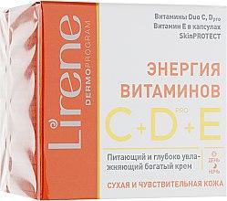 Духи, Парфюмерия, косметика Интенсивно увлажняющий крем для лица - Lirene C+D Pro Vitamin Energy