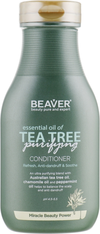 Укрепляющий кондиционер для волос с маслом чайного дерева - Beaver Professional Essential Oil Of Tea Tree Conditioner
