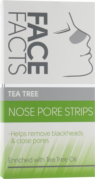 Очищающие полоски для носа - Face Facts Tea Tree Nose Pore Strips