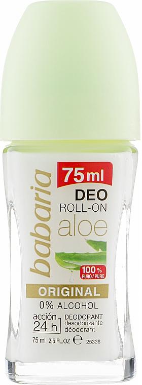 Роликовый дезодорант с Алоэ Вера - Babaria Aloe Vera Original Deodorant Roll-on