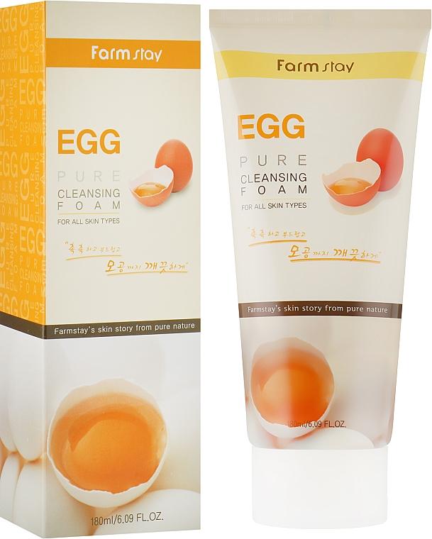 Очищающая пенка с яичным экстрактом - FarmStay Pure Cleansing Foam Egg