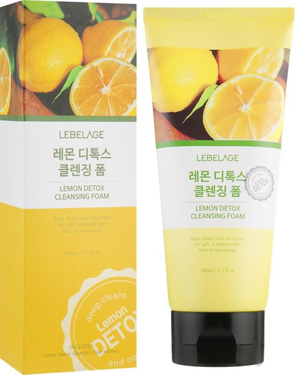 Лимонная детокс пенка - Lebelage Lemon Detox Cleansing Foam