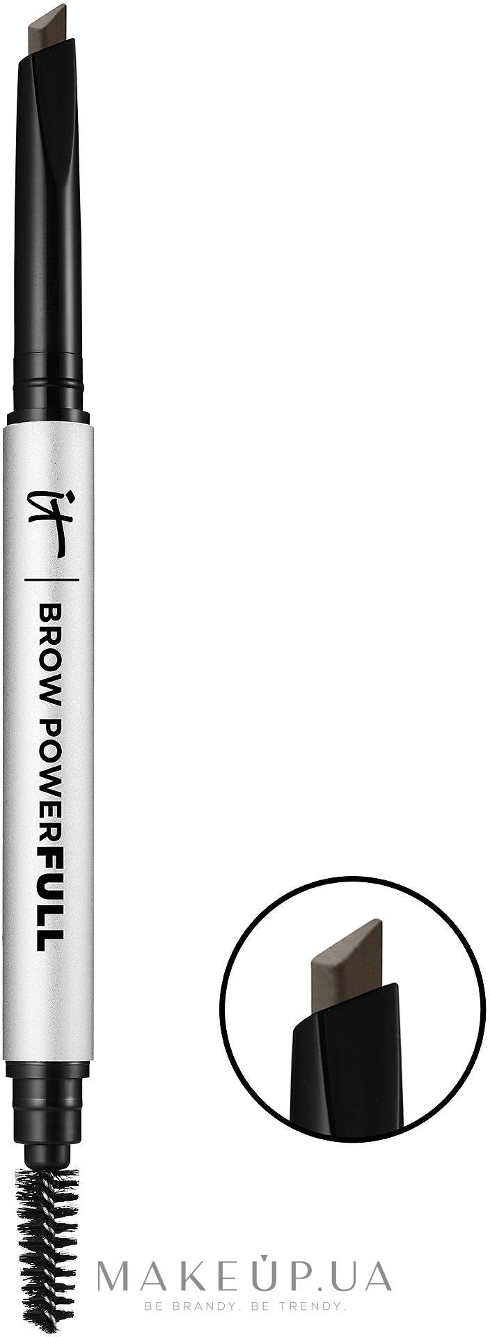 Карандаш для бровей для объема - It Cosmetics Brow PowerFULL Volumizing Eyebrow Pencil — фото Universal Taupe