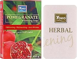 Духи, Парфюмерия, косметика Мыло для тела с экстрактом граната - Yoko Pomegranate Whitening Soap
