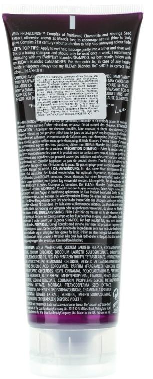 Увлажняющий шампунь для осветленных волос - Lee Stafford Bleach Blonde Shampoo — фото N6