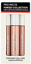 Духи, Парфюмерия, косметика Набор жидких помад - Freedom Makeup London Pro Melts Naked Collection Liquid Lipstick