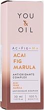 Духи, Парфюмерия, косметика Антиоксидантная сыворотка для лица с ягодами асаи, инжира и марулы - You & Oil Acai Fig Marula