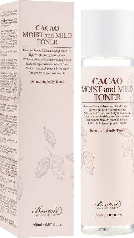 Тонер с маслом какао - Benton Cacao Moist and Mild Toner — фото N1