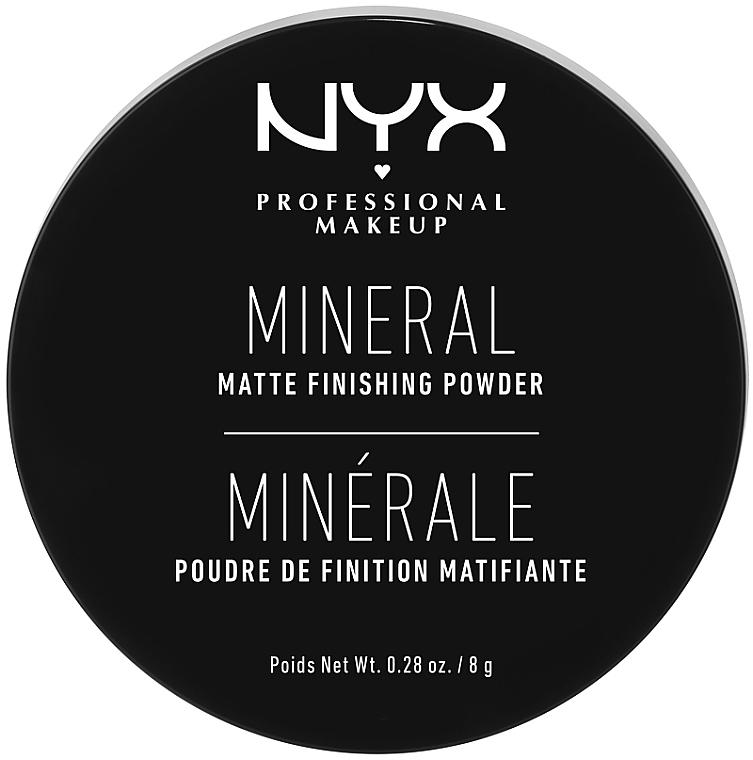 Минеральная финишная пудра - NYX Professional Makeup Mineral Matte Finishing Powder