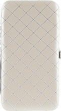 Духи, Парфюмерия, косметика Чехол для маникюрных инструментов, на 8 предметов, бежевый с серебром - Элита