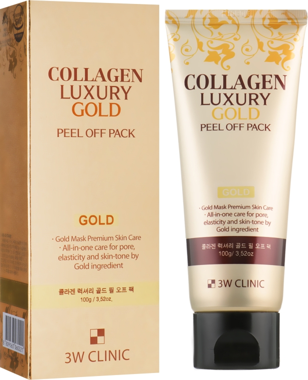 Золотая маска-пленка - 3w Clinic Collagen & Luxury Gold Peel Off Pack