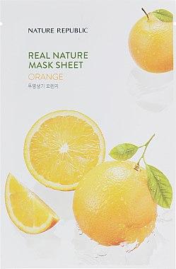 Тканевая маска для лица с экстрактом апельсина - Nature Republic Real Nature Mask Sheet Orange