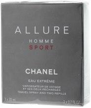 Духи, Парфюмерия, косметика Chanel Allure Homme Sport Eau Extreme - Туалетная вода (3 сменных блока и футляр)