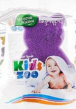 """Духи, Парфюмерия, косметика Губка банная фигурная """"Kidszoo, мишка фиолетовый - Мелочи Жизни"""