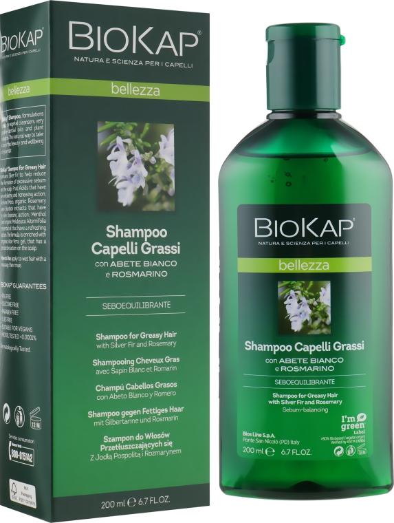 Шампунь для жирных волос - BiosLine BioKap Shampoo For Oily Hair With Silver Fir And Rosemary