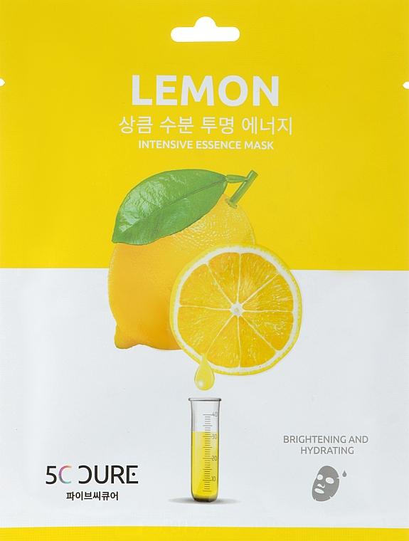 Маска для лица с экстрактом лимона - Jkosmec 5C Lemon