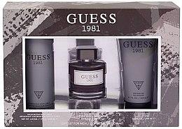 Духи, Парфюмерия, косметика Guess 1981 For Men - Набор (edt/100ml + sh/gel/200ml + deo/226ml)