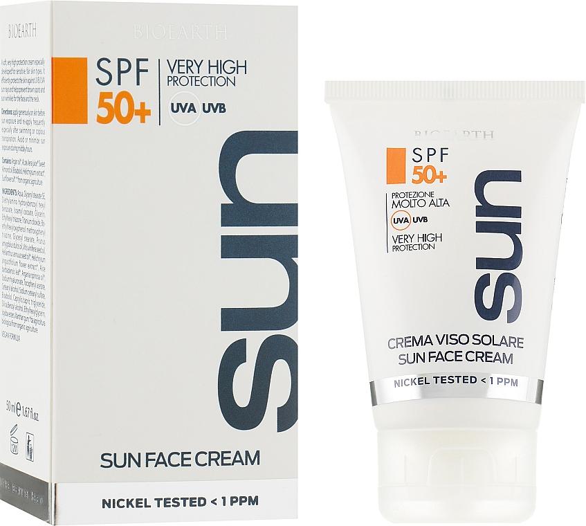 Крем для загара SPF50 - Bioearth Sun Protective Face Cream SPF50