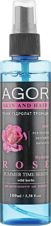 """Тоник """"Гидролат розы"""" - Agor Summer Time Skin And Hair Tonic"""