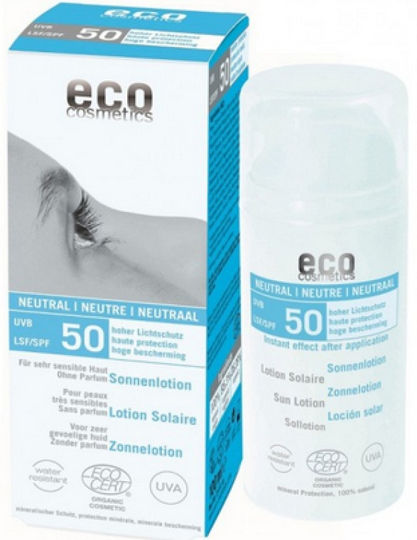 Солнцезащитный лосьон без запаха - Eco Cosmetics Sun Lotion SPF 50