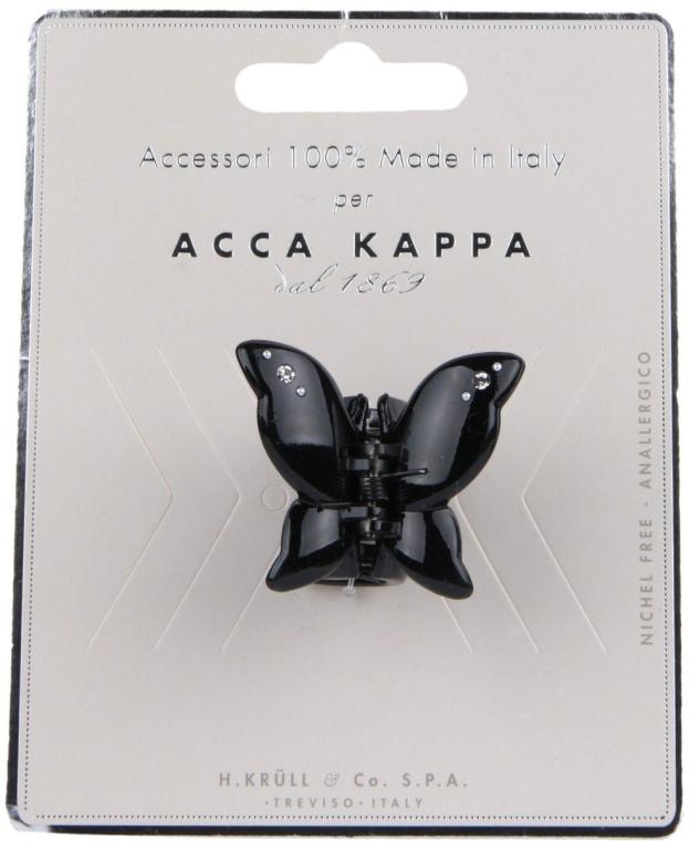 """Краб для волос со стразами """"Бабочка"""", черный - Acca Kappa"""
