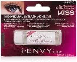 Парфумерія, косметика Клей для накладних пучків - Kiss IEnvy Long Lasting Individual Eyelash Adhesive Clear