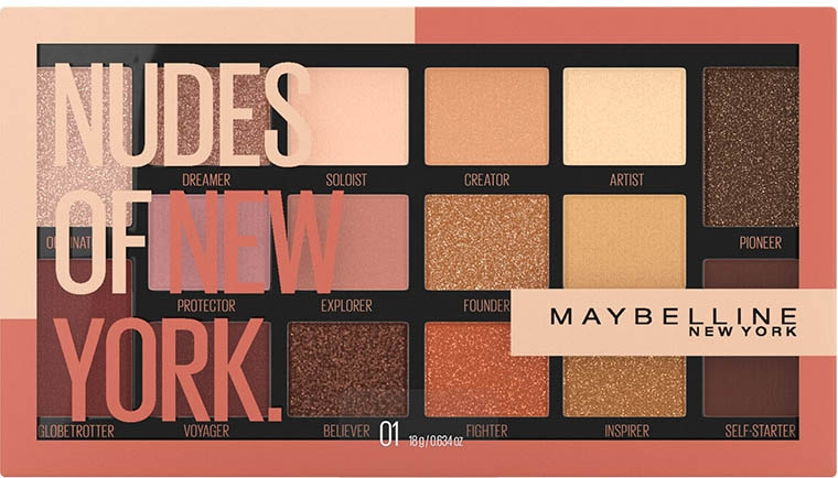 Палетка теней - Maybelline New York Nudes of New York Eye Palette