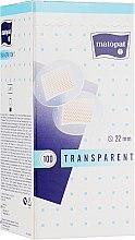 Парфумерія, косметика Медичний пластир Matopat Transparent, 22 мм - Matopat