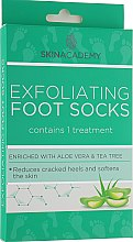 Духи, Парфюмерия, косметика Пилинговые носочки для ног - Skin Academy Exfoliating Foot Socks Enriched with Aloe Vera and Tea Tree