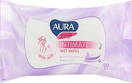 Духи, Парфюмерия, косметика Влажные салфетки для интимной гигиены, aloe - Aura Beauty Intimate Wet Wipes