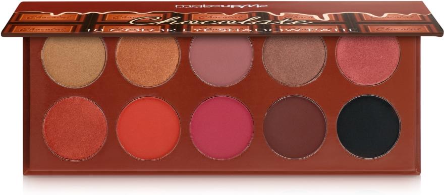 Профессиональная палитра теней 10 цветов, CH10 - Make Up Me Chocolate