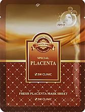 Духи, Парфюмерия, косметика Восстанавливающая маска с экстрактом плаценты - 3W Clinic Fresh Placenta Mask Sheet