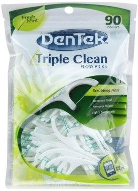 """Флосс с держателем """"Тройное очищение"""" - DenTek Triple Clean"""