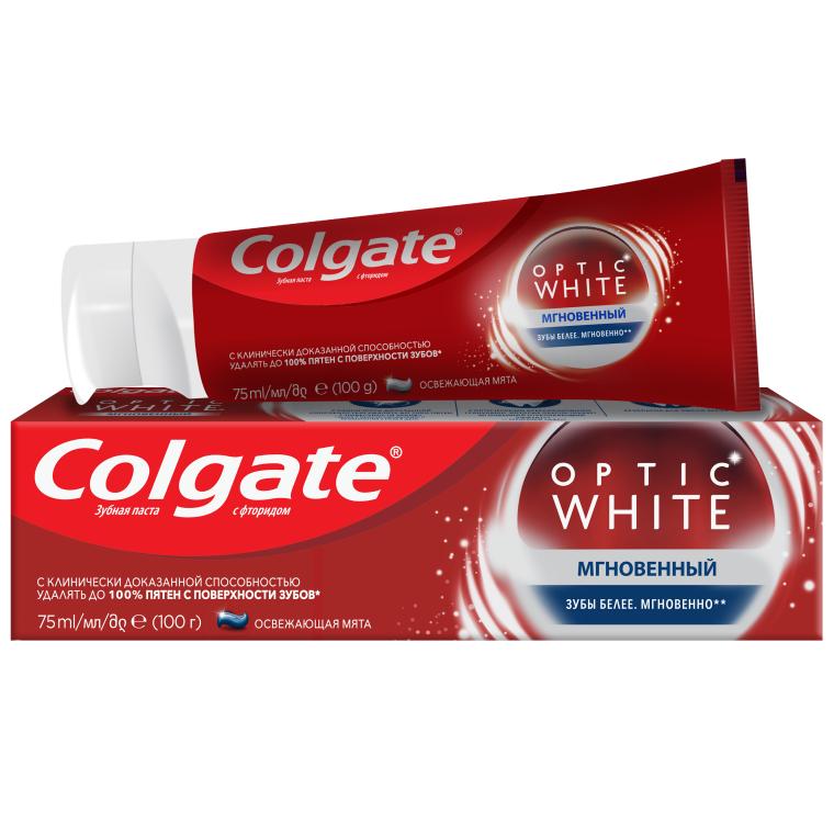 "Отбеливающая зубная паста ""Optic White Мгновенный"" - Colgate Optic White Sparcling mint"
