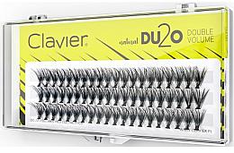 """Духи, Парфюмерия, косметика Накладные ресницы """"Двойной объем"""", 14 мм - Clavier DU2O Double Volume"""