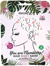 "Духи, Парфюмерия, косметика Маска для волос с маслом марулы ""Фламинго"" - Derma V10 Flamingo Print Hair Mask With Marula Oil"