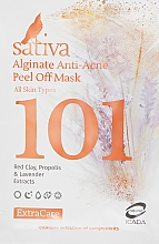 Духи, Парфюмерия, косметика Маска альгинатная анти-акне №101 - Sativa Extra Care Alginate Anti-Acne Peel Off Mask
