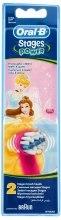 Духи, Парфюмерия, косметика Сменная насадка для детской зубной щетки, принцессы 2, 2шт - Oral-B Stages Power