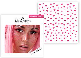 Духи, Парфюмерия, косметика Переводные тату-веснушки - Miami Tattoos Neon Pink Hearts