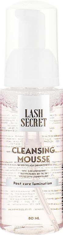 Мусс для очищения натуральных ресниц после процедуры ламинирования - Lash Secret Cleansing Mousse