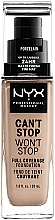 Парфумерія, косметика NYX Professional Makeup Can't Stop Won't Stop Full Coverage Foundation - NYX Professional Makeup Can't Stop Won't Stop Full Coverage Foundation