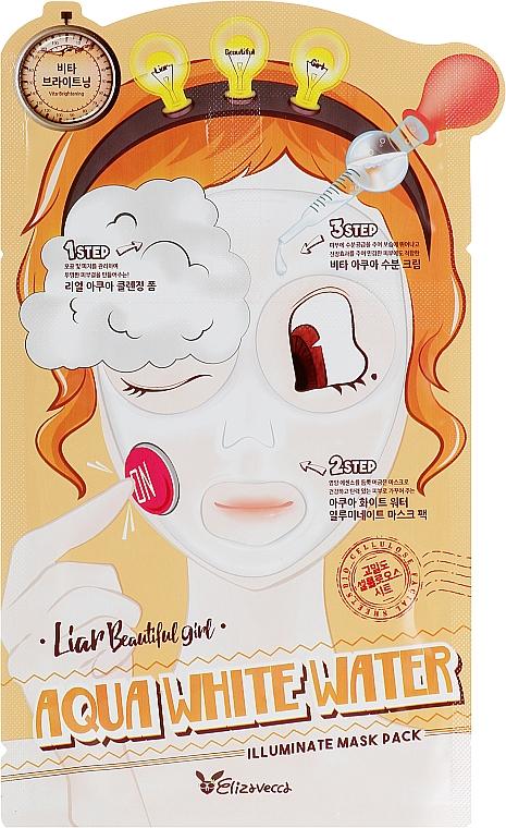 Маска трехступенчатая осветляющая и увлажняющая - Elizavecca Aqua White Water Illuminate Mask