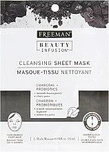 "Духи, Парфюмерия, косметика Тканевая маска для лица ""Уголь и пробиотики"" - Freeman Beauty Infusion Cleansing Sheet Mask"