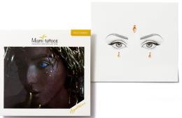 Духи, Парфюмерия, косметика Клеящиеся кристаллы для лица - Miami Tattoos Crystalzzz Drops In Gold