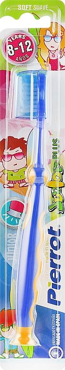 """Детская зубная щетка """"Юниор Плюс"""", желто-синяя - Pierrot Junior Plus Soft"""