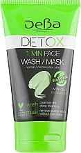 Духи, Парфюмерия, косметика Гель-маска глубоко очищающая с белой глиной и маслом эвкалипта для нормальной и комбинированной кожи - DeBa Detox