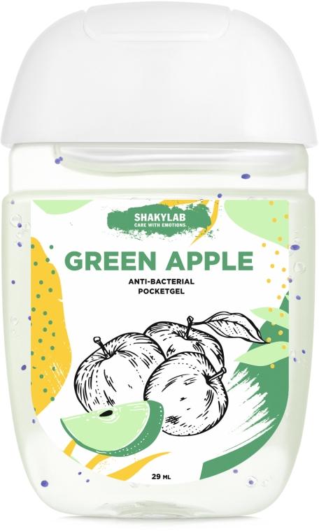 "Антибактериальный гель для рук ""Green apple"" - SHAKYLAB Anti-Bacterial Pocket Gel"