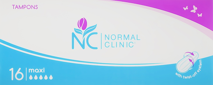 Тампоны Maxi, 5 капель, 16шт - Normal Clinic